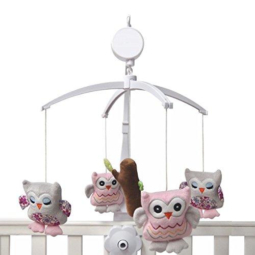 Einschlafhilfe für Kinderbett Babybett - Musikmobile EULE Mit Spieluhr - Spieluhr, rosa, Musikmobile, Kinderbett, fuer, Eule, einschlafhilfe, Babybett, baby einschlafhilfen, Baby