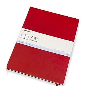 Moleskine Art Collection Skizzenbuch (Skizzenalbum, Hardcover, Papier Geeignet für Stifte, Bleistifte und Pastelle, Format A3 29,7 x 42 cm, 96 Seiten) scharlachrot