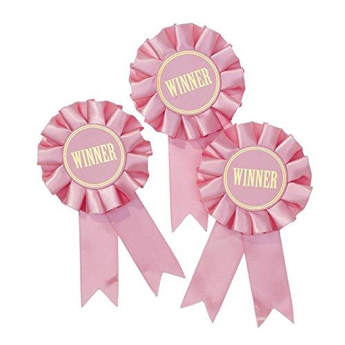 Party Pink Supplies Pony (Talking Tables Pony Party; Sieger-Rosetten für Geburtstage, Kinderfeste, Partys nur für Mädchen; Pink (6 pro Pack))