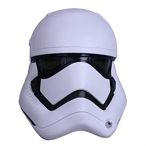 Stormtrooper PVC Maske Helm Star Wars Film Masken Cosplay Halloween Maskerade Kostüm Maske Für 65 cm,White-OneSize