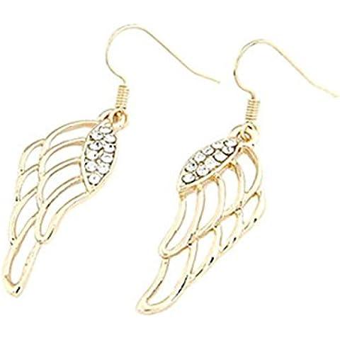 YKQJING L'ala di angelo a forma di orecchini di Zircon