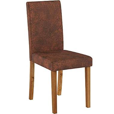 Invicta Interior Edler Esszimmerstuhl Kolonialstil GENUA whisky - braun Esszimmer Stuhl Konferenzstuhl Vintage Look Beine aus Sheesham Massivholz