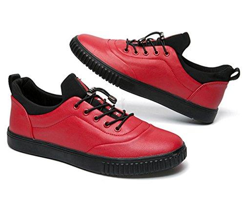 WZG Herbst neue Sportschuhe der Männer niedrige Schuhe britische Art und Weise der Männer lace-up, flache Schuhe zu helfen Red