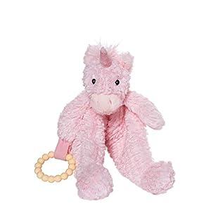 Manhattan Toy Adorables Pétalos Unicornio bebé calmante Manta con mordedor de Silicona extraíble