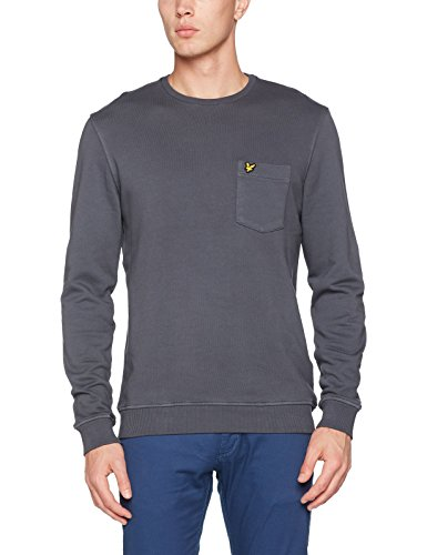 Lyle & Scott Herren Sweatshirt Garment Dye Grey (Washed Grey)