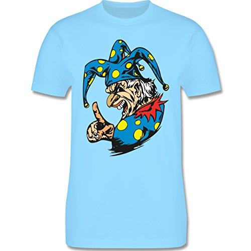 Karneval & Fasching - Clown - Grimasse - Herren Premium T-Shirt Hellblau
