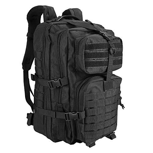 ProCase Zaino Tattico Militare, 40L Assault Backpack Grande Capacità Zaini 3 Day Dell'esercito Zaino per Caccia, Trekking e Campeggio e Altre Attività All'aperto -Nero