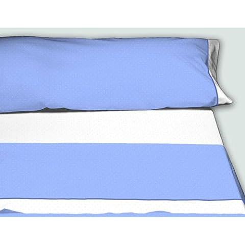 Burrito Blanco - Juego de sábanas Claro de Luna para cama 160x190/200 cm, color azul