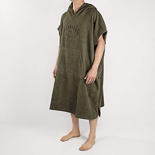 BILLABONG Mens Hooded Changing Robe/Poncho Military