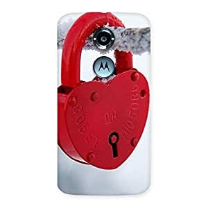 Delighted Red Lock Multicolor Back Case Cover for Moto X 2nd Gen