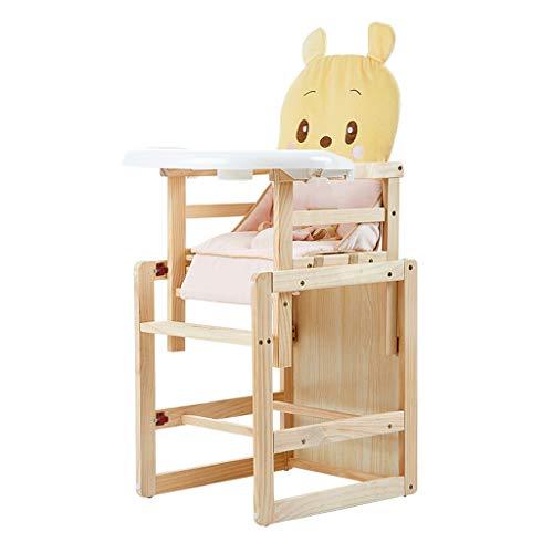 en Bois Pliable Chaise de bébé Ergonomique Chaise Haute Chaise d'enfants Fonction de Levage Multi-Fonction Chaise de Salle à Manger Hauteur réglable Facile à Nettoyer