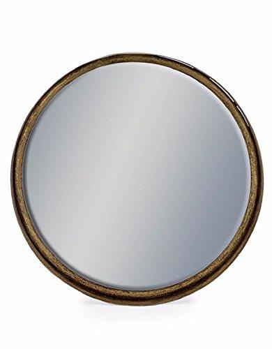 GRM G Vintage Style Black & Bronze rund tief Rahmen Metall Zylinder Spiegel 30,7cm