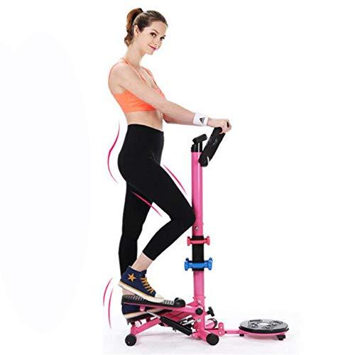 WXH Mini Fitness Stepper Step Machine, Taille Twister Übung Magnetfeldtherapie Twisting Disc, Mit LCD-Monitor, Sehr leiser Hydraulikwiderstand -