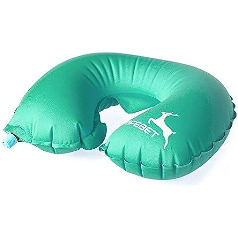 Viajes YGY inflable U Almohada Comfort la ayuda del cuello del amortiguador (Viajar, coche, plano, televisi¨®n, lectura) (azul claro)