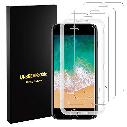 UNBREAKcable Panzerglas Panzerglasfolie für Apple iPhone 6s/6/7/8, 9H Härte Schutzfolie, 3 Stück