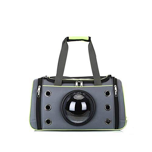 ubest Hunde Tragetaschen Transporttasche Katze Faltbar aus Oxford für Kleinen Hund Welpen Katze bis 7,5kg, 51 x 28 x 26cm, Grün