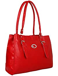 Paras Fashions Stylish Red Color Synthetic Leather Shoulder Bag For Girls/Handbag For Women