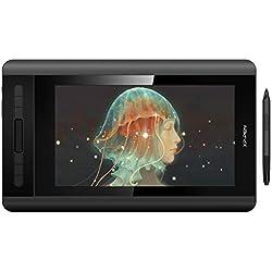 XP-PEN Artist 12 Tablette Graphique avec Ecran HD 11,6 Pouces Moniteur Dessin avec Stylet Passif 8192 Niveaux Pression + Support Stylet Multifonctionnel + Gant Tablette - Version 2019