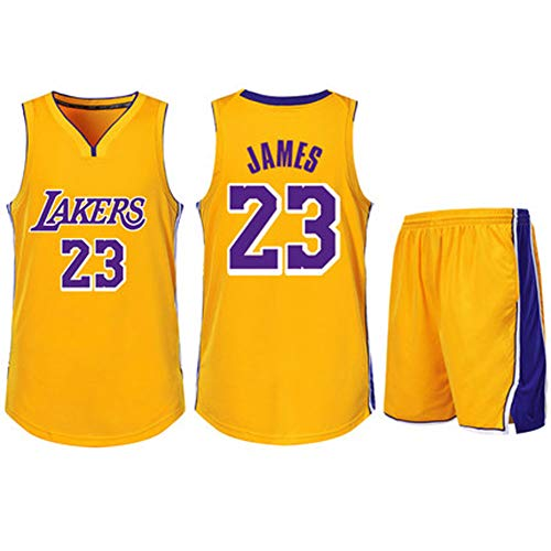 Wright 23 King James Basketball-Trikots-XXXL, 90er Jahre Hip Hop-Kleidung für Party, Los Angeles Lakers Trikots Basketball Uniform Top \u0026 Short