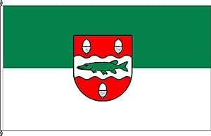 Königsbanner Tischfähnchen Biederitz-Ort - Tischflaggenständer aus Holz