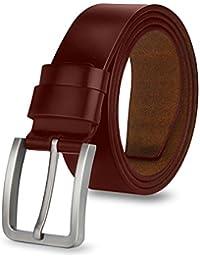 MPTECK   Marrón Hombres Cinturón de Cuero Correa Cinturones 120cm Diseñado para  caballero hombres Adulto cintura 6a3a2fc815ce