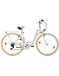 KS Cycling Damen Damenfahrrad Balloon Fahrrad, Weiß, 28