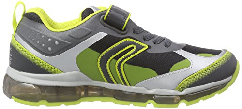 Geox J Android Boy B, Baskets Basses Garçon Multicolore - Mehrfarbig (C9102LEAD/LIME)