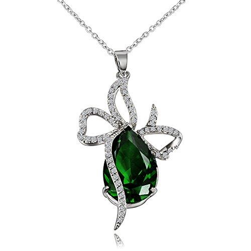 AmberMa Be Happy Halskette Anhänger Kette, Modeschmuck Zubehör Designs, Geburtstag Geschenke für Frauen Hochzeit Mädchen