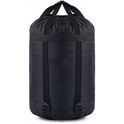 SODIAL Bolsa sacos de compresion de nylon Saco bolsa de compresion de almacenamiento de cosas bolsa de dormir