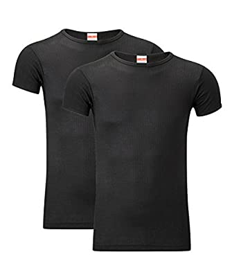 Heatwave® Pack Of 2 Men's Thermal T Shirt, Warm Underwear Baselayer, S M L XL XXL Thermals