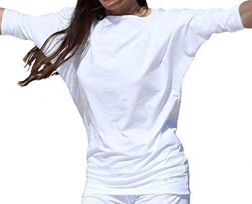 Esparto Sadaa Camiseta de manga media, de algodón orgánico, color Schneeweiss, tamaño extra-small