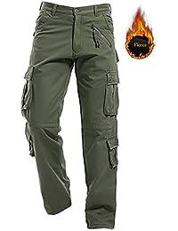 f4f5c5645624a AIZESI Pantalon d hiver Homme Pantalon de Ski Travail pour Homme Cargo  Chaud Pantalon de Loisir Coton Sport Randonnée pédestre Hiver…
