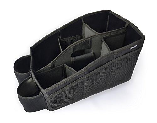 Auto Organizer, Utensilientasche für den Autositz mit 2 Befestigungsmöglichkeiten, wasserabweisende Rücksitztasche, Rücksitz-Spielzeugtasche, Sitz-Tasche für die Rückbank