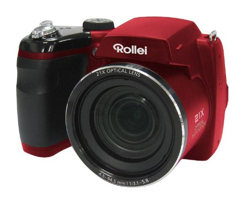 Rollei Powerflex Digitalkamera 210 HD (16 Megapixel, 21-fach optischer Zoom, 25 mm Weitwinkelobjektiv, HD Video, 7,62 cm (3 Zoll) Display) rot