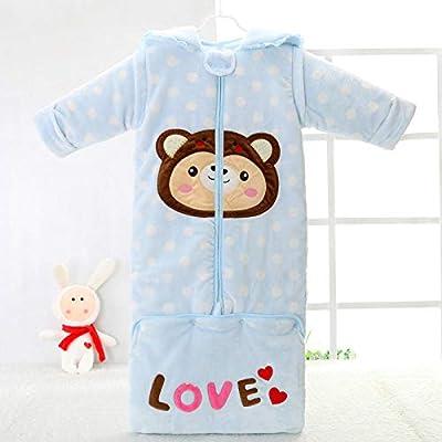 Saco de dormir multifuncional para bebés antideslizante para niños con mangas desmontables cremallera de doble uso primavera y otoño invierno Pijamas para niños y niñas