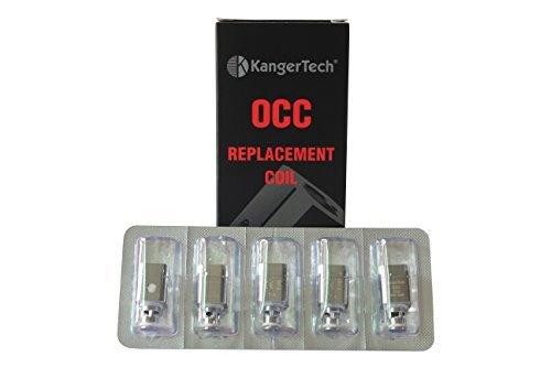 5 Pack Kanger Subtank OCC coil atomizer head for Subtank Subtank mini Subtank nano (0.5 ohm)
