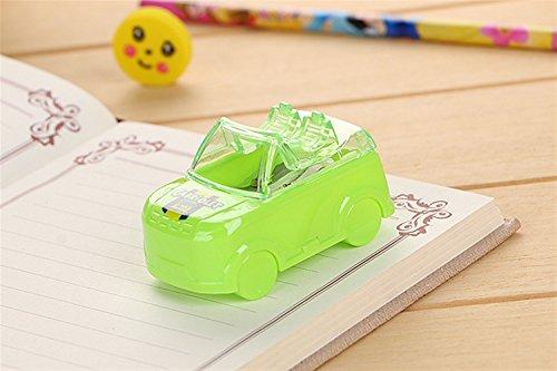 Desktop Sharpener für Teenages Boys, Girls Cute Car Form Doppel Loch Anspitzer für Home School & Office (grün)