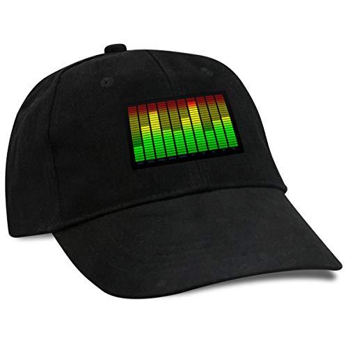 Ucult Party LED Equalizer Cap soundaktivierte Basecap schwarz El Leuchtfole reagiert...