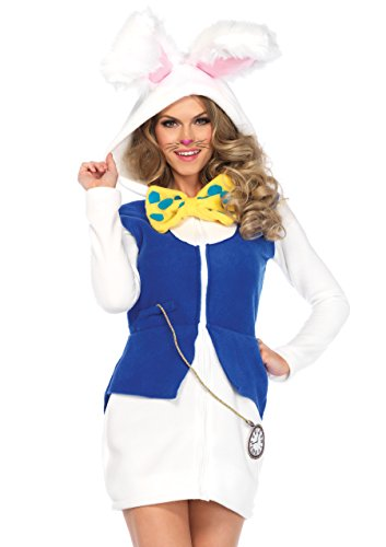 Leg Avenue 85591 Cozy Rabbit, Damen Karneval Kostüm Fasching, L, weiß/blau