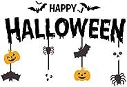 ملصقات تزيين KH Halloween Window Clings للهالووين، ملصقات هالوين لجدران زجاج النوافذ، ديكورات ملصقات النافذة م