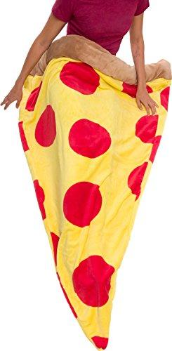 Pizza Schlafsack–Plüsch Fleece GIANT Pizza Slice Decke für -