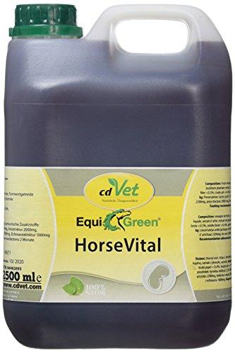 cdVet Naturprodukte EquiGreen HorseVital 2,5 Liter - Pferde -  Leistungsfähigkeit - intakte Haut + glänzendes Fell - Verdauung - Stoffwechsel - Versorgung mit Mikronährstoffen - Entgiftungsorgane - -