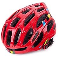 XDXDWEWERT Bicicleta Casco Ajustable de la Bicicleta Casco de Bicicleta de ventilación porosa para Hombres Mujeres (Rojo)
