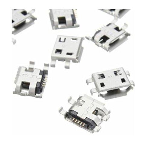 Conector tipo Micro USB, hembra, de 5 polos MC3, PCB, SMD para conectar celulares smartphone mini jack F pin pc (2 unidades)