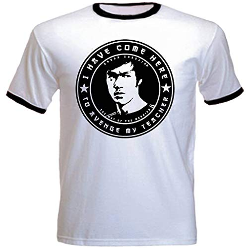 urban shaolin Mens Bruce Lee Inspired Quote I Have Come Here To avenge My Teacher Retro Casual Fit T Shirt