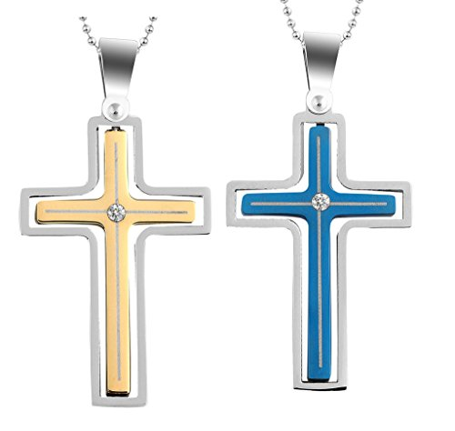 daesar-2pcs-his-hers-matching-set-necklace-stainless-steel-cz-rotating-cross-with-chain