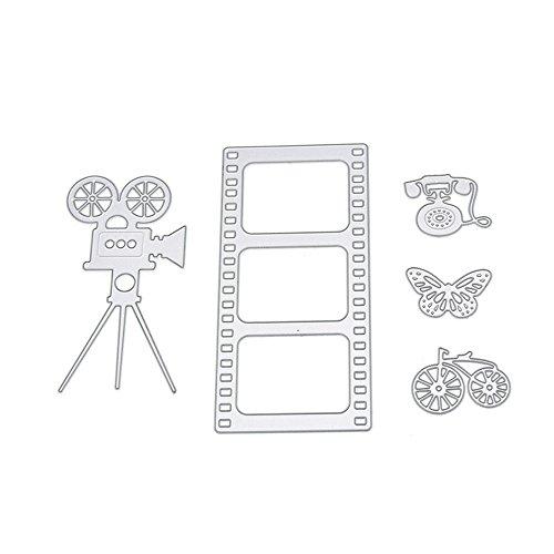 enipate Scrapbooking Metall schneiden stirbt Schablonen Projektion Maschine Set DIY Album dekorativer Prägung Papier - Halloween-projektion Dvds