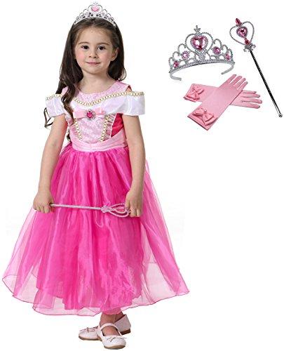 Fanryn Kleine Mädchen Prinzessin Kostüm Kleid Puffärmeln,Cosplay Halloween Geburtstag Party Kleid Fancy Kleid Mädchen Kinder Kleid Halloween (Zero Kostüm Für Baby)