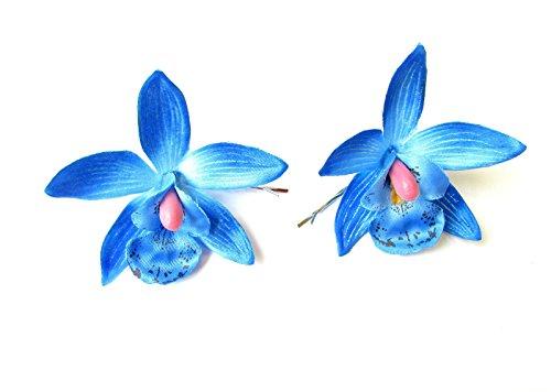 2-x-azul-orqudea-flor-horquillas-Clips-hawaianas-Festival-Bobby-Pins-diapositivas-2131-Exclusivamente-Se-Vende-por-STARCROSSED-Boutique