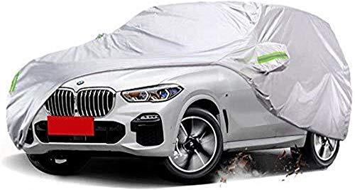 ZGYQGOO Copertura Auto Protezione Solare Impermeabile Antipolvere Antigelo Neve Tessuto Oxford Ispessimento Coperture universali per Quattro Stagioni (Dimensioni: coperture Auto per BMW X5 2009)